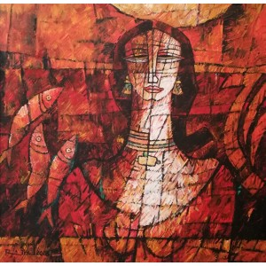 A. S. Rind, 36 x 36 Inch, Acrylic On Canvas, Figurative Painting, AC-ASR-255