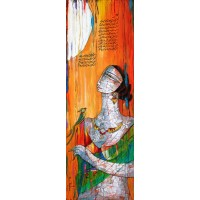 A. S. Rind, Untitled, 12 x 36 Inch, Acrylic on Canvas, Figurative Painting, AC-ASR-128