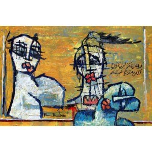 A. S. Rind, Untitled, 20 x 30 Inch, Acrylic on Canvas, Figurative Painting, AC-ASR-136