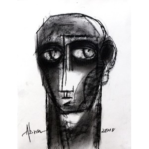 Abrar Ahmed, 9 x 12 Inch, Charcoal On Paper , Figurative Painting, AC-AA-117