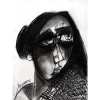 Abrar Ahmed, 9 x 12 Inch, Charcoal On Paper , Figurative Painting, AC-AA-118