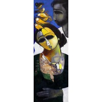 Abrar Ahmed, 12 x 36 Inch, Oil on Canvas, Figurative Painting, AC-AA-115