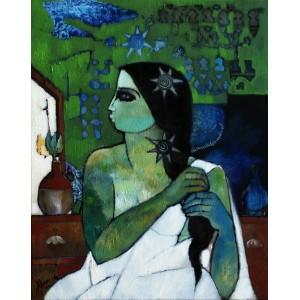 Abrar Ahmed, 16 x 20 Inch, Oil on Canvas,  Figurative Pintinng, AC-AA-098