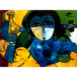 Abrar Ahmed , 18 x 24 Inch, Oil on Canvas, Figurative Painting, AC-AA-027