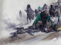 Ali Abbas, Penitence of the Murshid, 22 x 30, Watercolor on Paper, Figurative, Exhibition Painting-12