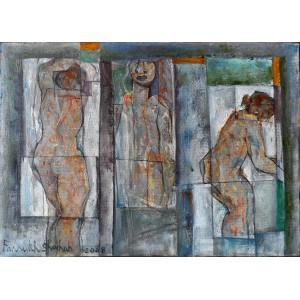 Farrukh Shahab, 12 x 16 Inch, Oil on Board,  Figurative Painting, AC-FS-004
