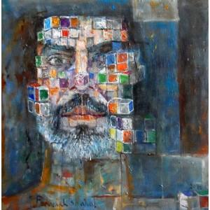 Farrukh Shahab, 10 x 10 Inch, Oil on Board,  Figurative Painting, AC-FS-006