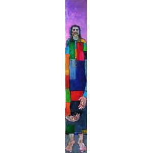 Farrukh Shahab, 8 x 54 Inch, Oil on Board,  Figurative Painting, AC-FS-012