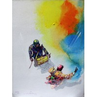 Hussain Chandio, 12 x 16 Inch, Acrylic on Canvas, Figurative Painting-AC-HC-102