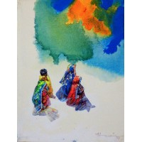 Hussain Chandio, 12 x 16 Inch,  Acrylic on Canvas,  Figurative Painting-AC-HC-051