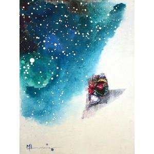 Hussain Chandio, Acrylic on Canvas, 12 x 16 Inch, Figurative Painting-AC-HC-020