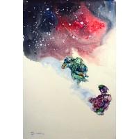 Hussain Chandio, Acrylic on Canvas, 24 x 36 Inch, Figurative Painting-AC-HC-027