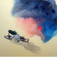 Hussain Chandio, Acrylic on Canvas, 36 x 36 Inch, Figurative Painting-AC-HC-030