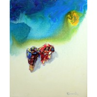 Hussain Chandio, Acrylic on Canvas, 16 x 20 Inch, Figurative Painting-AC-HC-037
