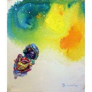 Hussain Chandio, 12 x 14 Inch,  Acrylic on Canvas,  Figurative Painting-AC-HC-042
