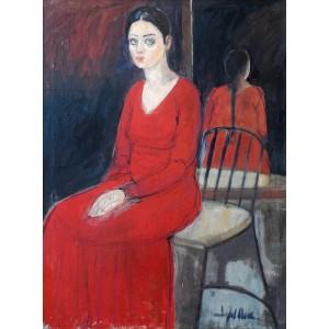 Iqbal Hussain, 36 x 48 inch, Oil on Canvas, Figurative Painting, AC-IH-005