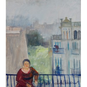 Iqbal Hussain, 16 x 20 inch, Oil on Broad, Figurative Painting, AC-IH-006