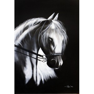 Irfan Ahmed, 36 x 24 Inch, Oil on Canvas, Horse Painting, AC-IRA-040