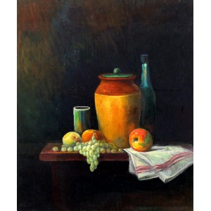 Maqsood Ahmad, 20 x 24 inch, Oil on Board, Still life Painting-AC-MQA-002