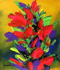 Mazhar Qureshi, 12 X 14 Inch, Oil on Canvas, Floral Painting, AC-MQ-061