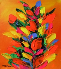 Mazhar Qureshi, 12 X 14 Inch, Oil on Canvas, Floral Painting, AC-MQ-063
