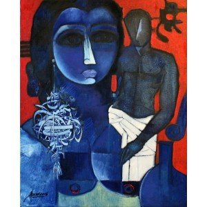 Abrar Ahmed, 16 x 20 Inch, Oil on Canvas,  Figurative Painting, AC-AA-099