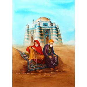 S. A. Noory, Tomb of Shah Rukn-e-Alam,16 x 12 Inch, Watercolor On Paper, Figurative Painting, AC-SAN-106