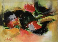 S. M. Naqvi, Acrylic on Canvas, 10  x 14 Inch, Abstract Painting, AC-SMN-036