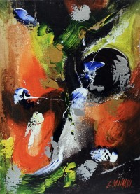 S. M. Naqvi, Acrylic on Canvas, 10  x 14 Inch, Abstract Painting, AC-SMN-039