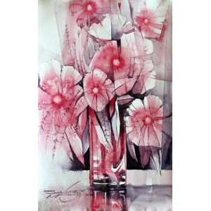 Sarfraz Musawir, Watercolor on Paper, 11x15 Inch, Floral Painting, AC-SAR-068