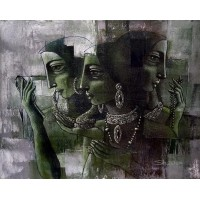 Shaista Momin, Untitled, 24 x 30 Inch, Acrylic on Canvas, Figurative Painting, AC-SHM-001