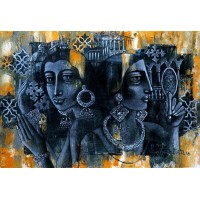 Shaista Momin, Untitled, 20 x 30 Inch, Acrylic on Canvas, Figurative Painting, AC-SHM-004