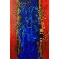Shaista Momin, Untitled, 24 x 36 Inch, Acrylic on Canvas, Figurative Painting, AC-SHM-002